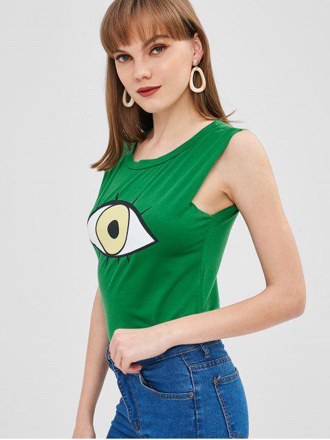 Eyes Graphic Débardeur - Vert Trèfle Taille Unique Mobile