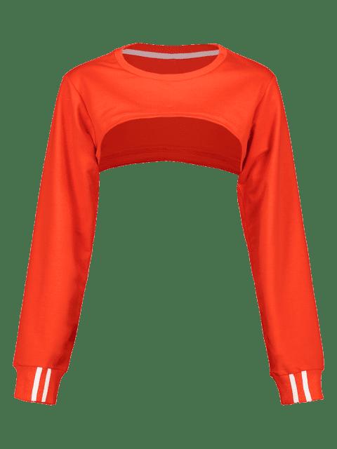 ZAFUL - Open Bust - Kurzes Sweatshirt - Leuchtend Orange M Mobile