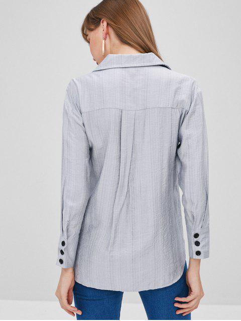 Chemise à Poignet Boutonné - Bleu Bébé 2XL Mobile