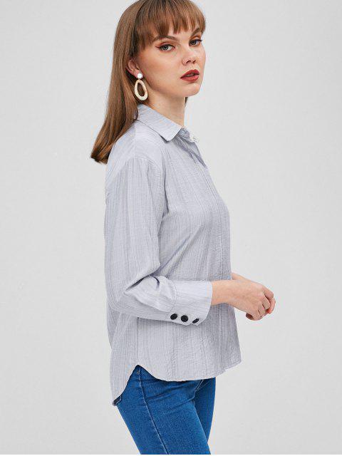 Chemise à Poignet Boutonné - Bleu Bébé M Mobile