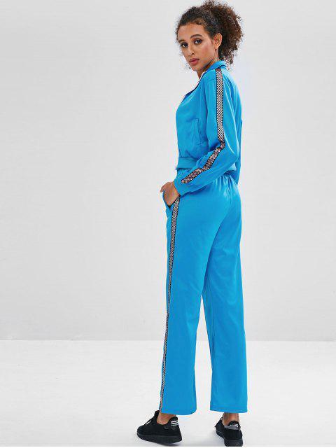 Jacke und Hose mit weitem Bein - Dunkles Himmelblau L Mobile
