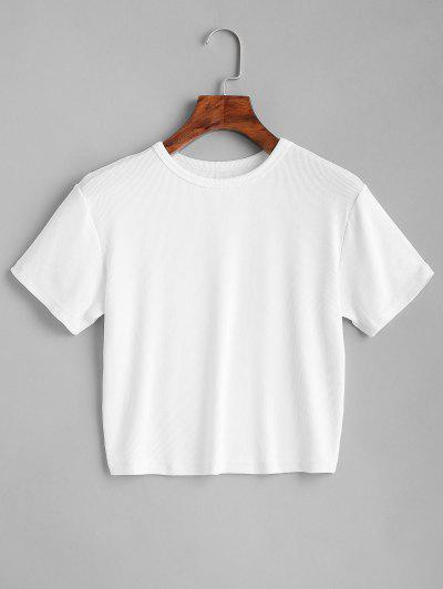 ZAFUL Plain Cropped Tee - White L