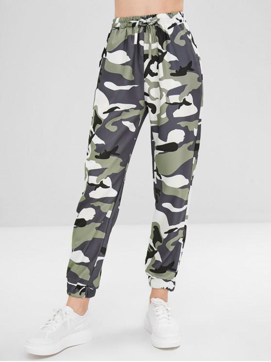 hot Camo Drawstring Pants - ACU CAMOUFLAGE L
