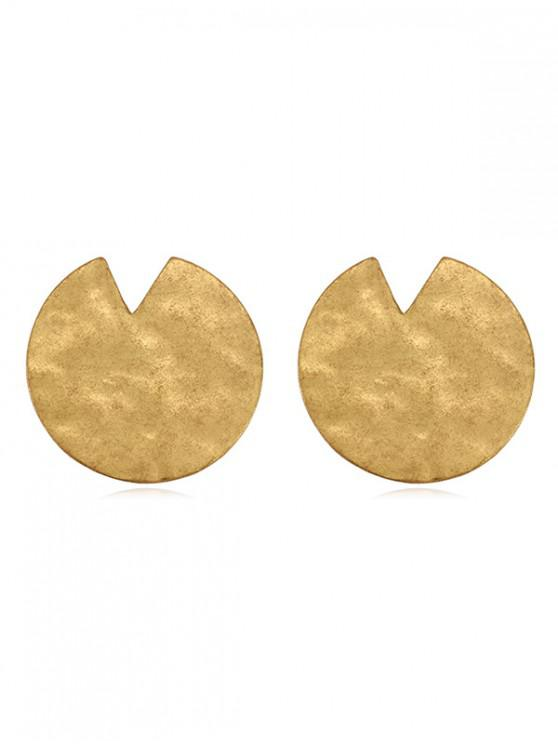 ab5506060 17% OFF] 2019 Metal Lotus Leaf Shape Stud Earrings In GOLD | ZAFUL