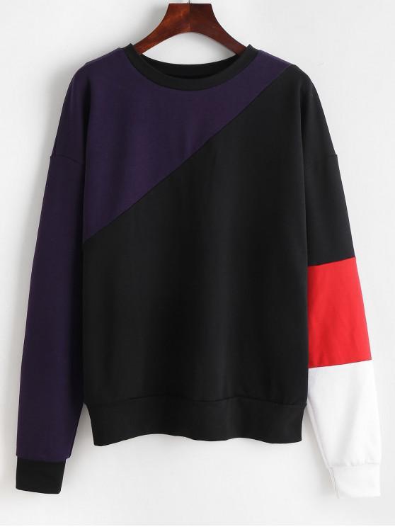 online ZAFUL Pullover Colorblock Sweatshirt - MULTI L