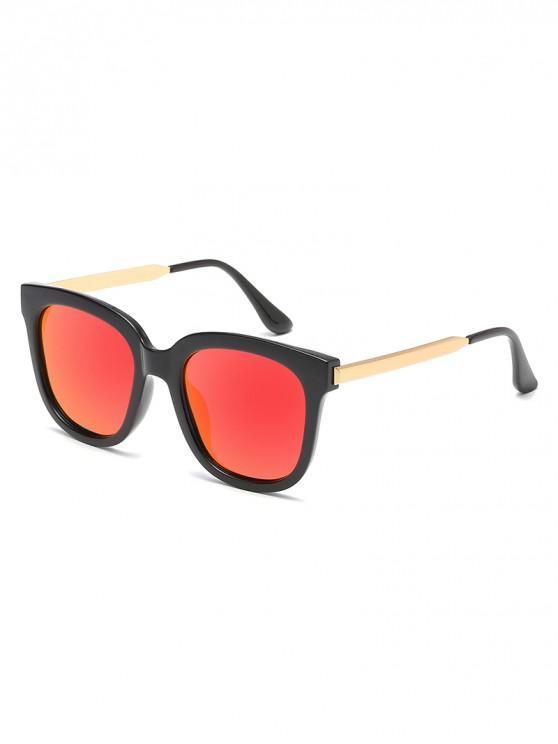 72127c1d9b583 Óculos de sol unisex polarizados do quadro do PC do metal do retângulo -  Vermelho