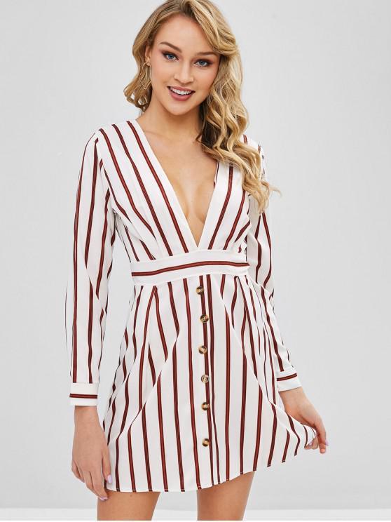 Mini vestido de imitação de uma linha listrada - Multi S