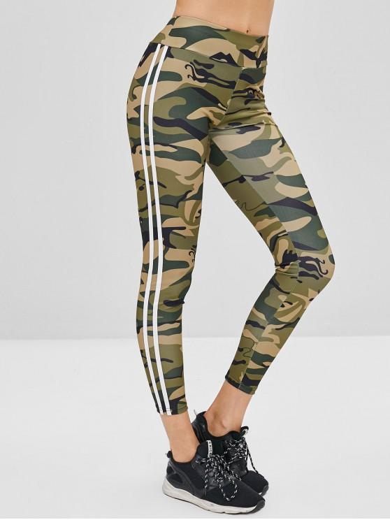 affordable Striped Side Camouflage Leggings - ACU CAMOUFLAGE L