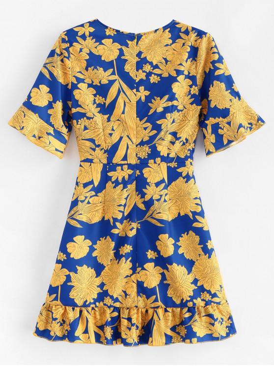 Lacets Fleurie VolantsMulti M robe Mini À CrxdBeoW
