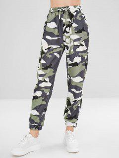 Camo Drawstring Pants - Acu Camouflage M