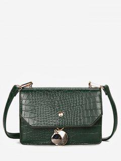 Metal Pendant Cover Shoulder Bag - Medium Sea Green