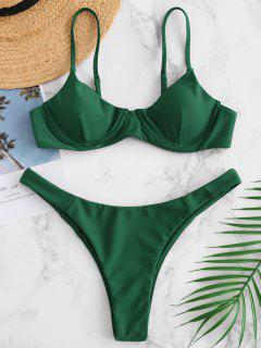 ZAFUL Underwire Cami Bikini Set - Mittleres Meer Grün L