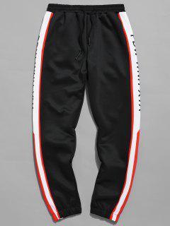 Pantalon De Jogging Imprimé Lettres Latérales - Noir Xs