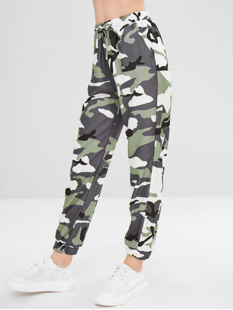 online Camo Drawstring Pants - ACU CAMOUFLAGE S Mobile