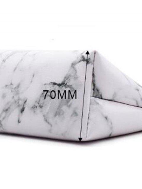 outfit Marble Print Portable Makeup Bag - WHITE  Mobile