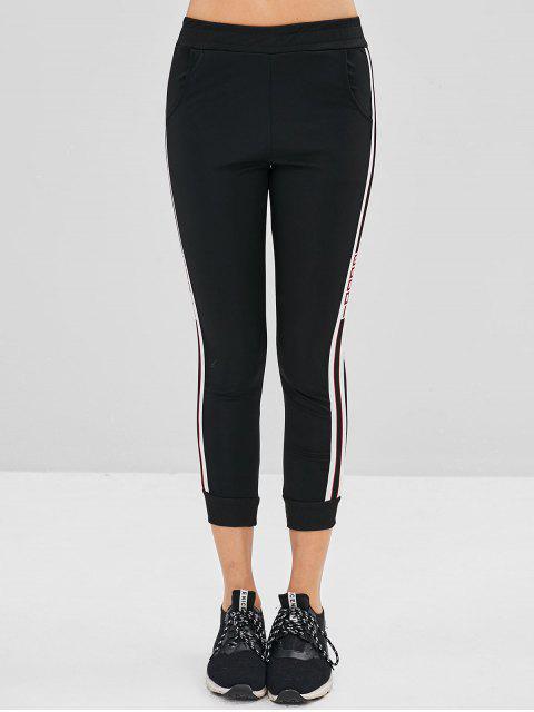 Pantalon de Sport Rayé Good Graphique - Noir L Mobile