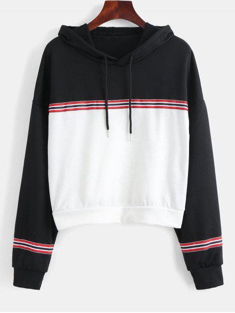 outfit Paneled Boxy Hoodie - MULTI S Mobile