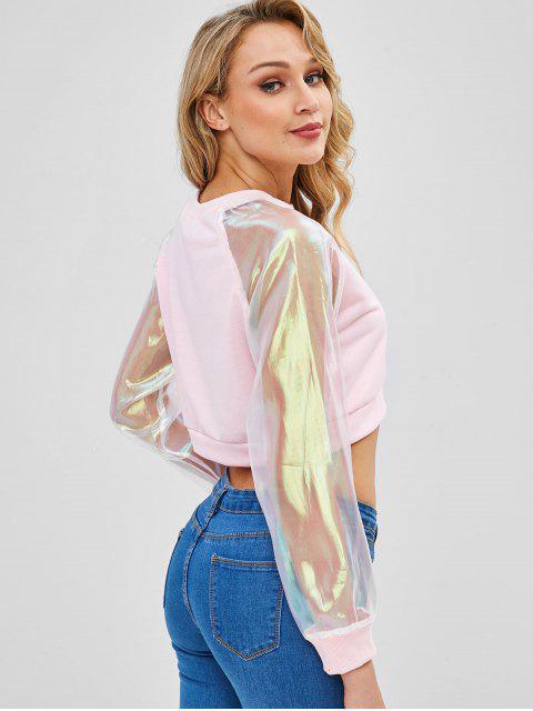 Sweat-shirt Court Transparent à Manches Raglan - Cerisier Rose L Mobile