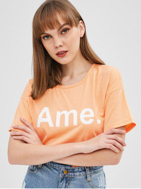 outfit Ame Full Stop Graphic Tee - DEEP PEACH ONE SIZE Mobile