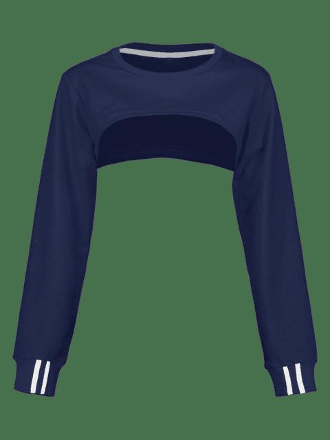 ZAFUL - Open Bust - Kurzes Sweatshirt - Kadettenblau S Mobile