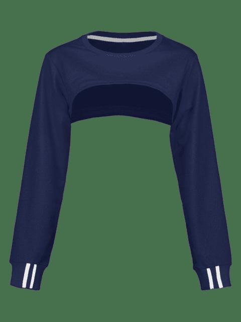ZAFUL - Open Bust - Kurzes Sweatshirt - Kadettenblau M Mobile