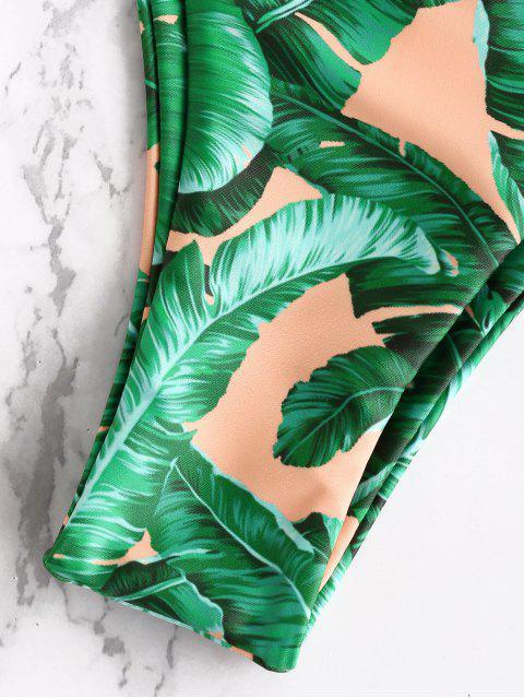 latest Leaf Beadeau Bikini Set - ORANGE PINK L Mobile