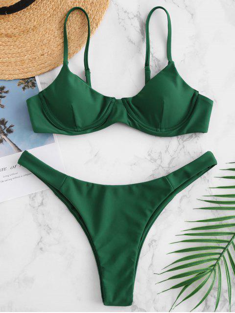 ZAFUL Bügel-Kami Bikini Set - Mittleres Meer Grün S Mobile