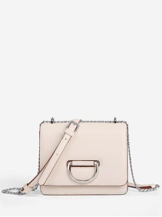 online Square Chain Crossbody Bag - WHITE