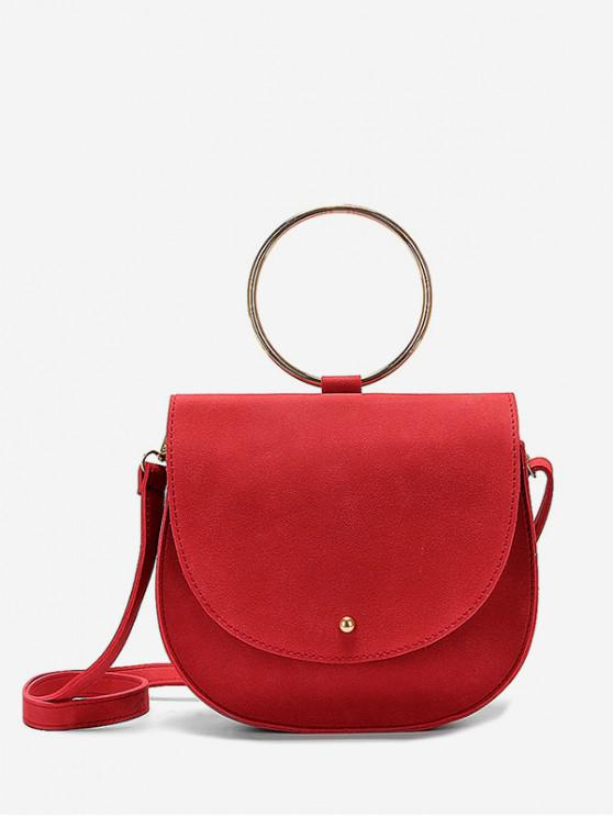 buy Ring Handle Saddle Bag - RED