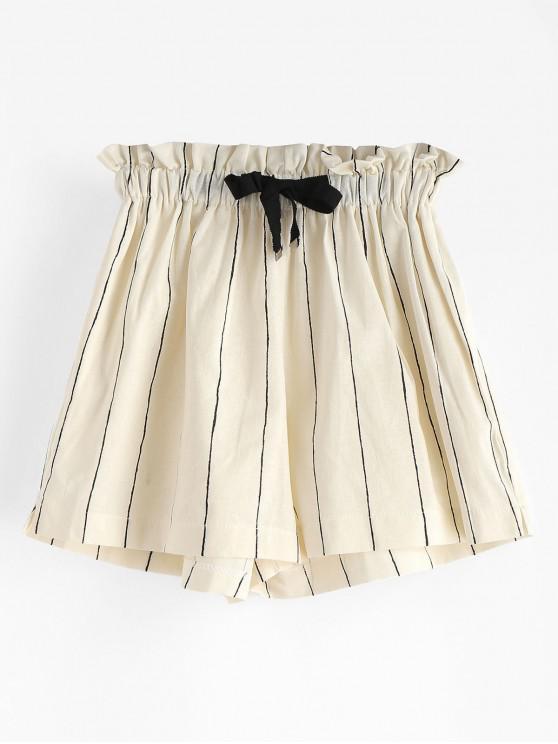 Pantaloncini A Righe Con Tasche Laterali - Multicolore S