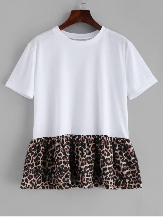T-Shirt Leopardata - Bianca S