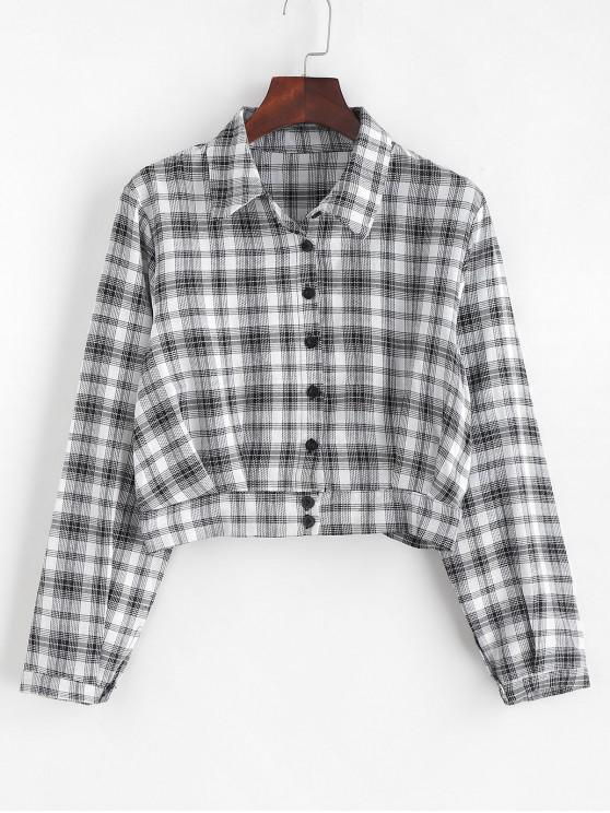 منقوشة قميص اقتصاص - متعدد L
