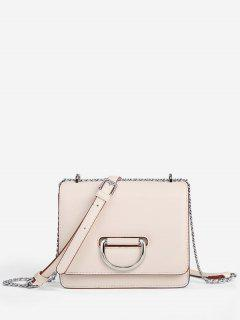 Square Chain Crossbody Bag - White