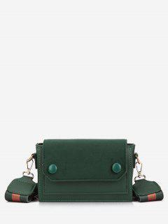 Retro Striped Belt Mini Crossbody Bag - Medium Sea Green