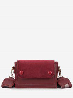 Retro Striped Belt Mini Crossbody Bag - Red Wine