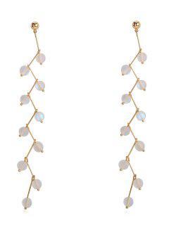 Metal Moonlight Beads Stud Earrings - Gold