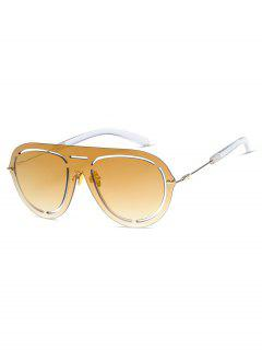 Stylish Hollow Out Design Sunglasses - Champagne Gold