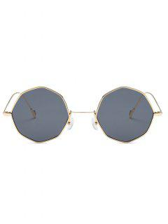 Fashionable Geometric Shape Sunglasses - Battleship Gray