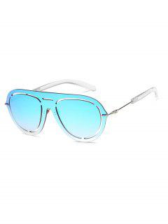 Stylish Hollow Out Design Sunglasses - Light Sky Blue