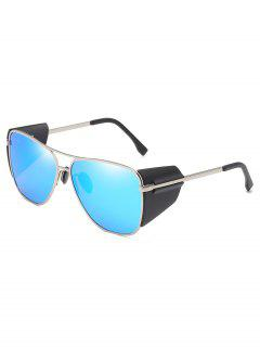 Retro Metal Frame Butterfly Outdoors Sunglasses - Azul De Dodgers