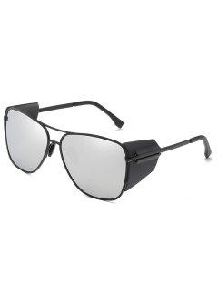 Retro Metal Frame Butterfly Outdoors Sunglasses - Silver