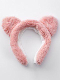Stylish Cat Ear Design Fuzzy Headband - Pink