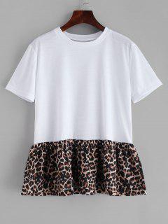 Camiseta Con Falda De Leopardo - Blanco M