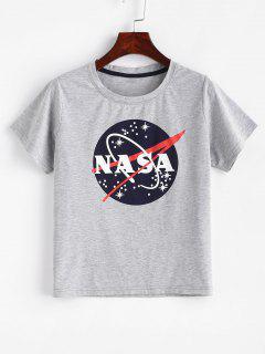 ZAFUL Graphic Marl Camiseta - Nube Gris L