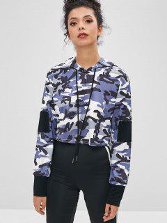 Patch Camo Cropped Hoodie - Acu Camouflage L