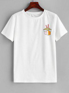 Camiseta Gráfica De Manga Corta - Blanco S