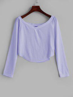 Camiseta Con Cuello En V Sin Mangas - Color De Malva M