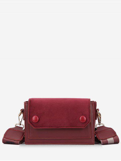 outfits Retro Striped Belt Mini Crossbody Bag - RED WINE  Mobile