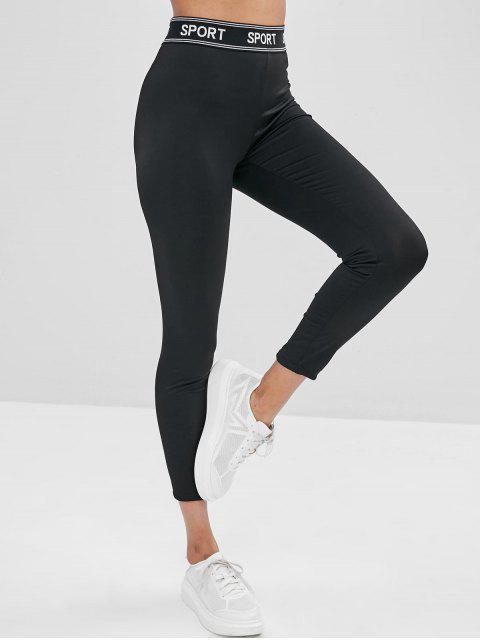 ZAFUL Legging Lettre Jointif à Taille Haute - Noir L Mobile
