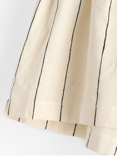 sale Striped Side Pockets Woven Shorts - MULTI S Mobile